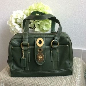 COACH Green Leather Bag